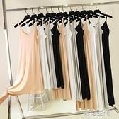 吊帶裙顯瘦打底裙女v領莫代爾長裙無袖洋裝大碼中長款內搭襯裙連身裙