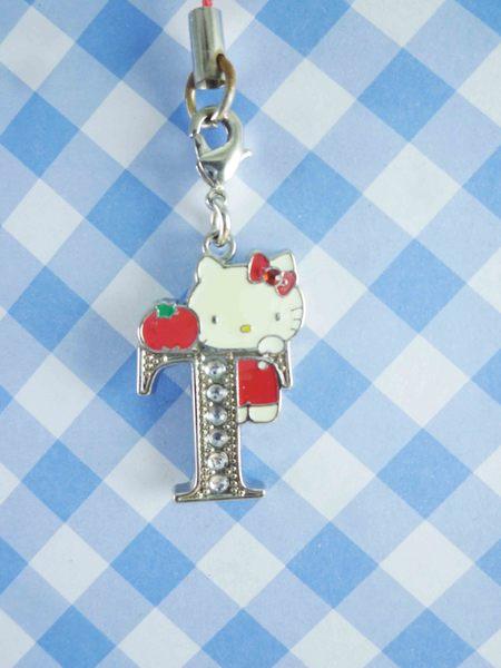 【震撼精品百貨】Hello Kitty 凱蒂貓~KITTY手機吊飾-KITTY英文字母造型-T