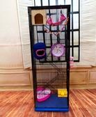 新款三層魔王松鼠蜜袋鼯花枝豚鼠別墅大倉鼠特大門龍貓標金花 韓小姐的衣櫥