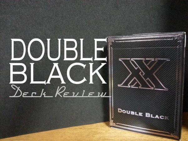 【USPCC 撲克】UNBRANDED Double Black 黑色雙X 撲克