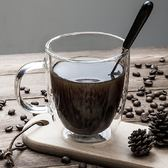 原點居家創意雙層玻璃馬克杯耐熱辦公咖啡杯玻璃水杯牛奶杯情侶杯子260ml