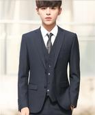 西裝套裝 西服套裝男士外套上衣青年韓版修身商務休閒職業正裝小西裝男【快速出貨八折鉅惠】