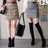 ★現貨★MIUSTAR 學院風!挺版格紋附皮帶毛呢褲裙(共2色,S-L)【NF5696ES】