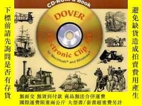 二手書博民逛書店Old-Time罕見Transportation CD-ROM and Book (Dover Electroni