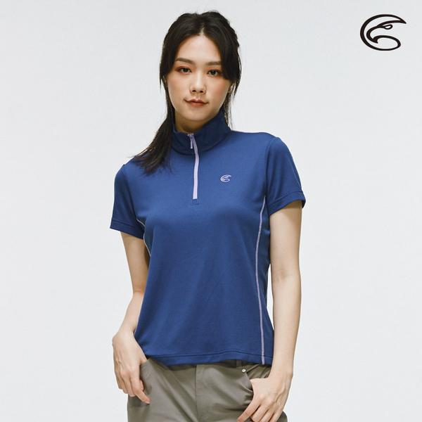 ADISI 女半門襟涼感智能纖維速乾短袖上衣AL2011056 (M-2XL) / 城市綠洲 (快乾排汗、登山健行)