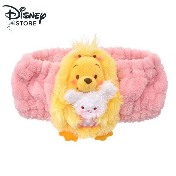 (現貨)日本DISNEY STORE 迪士尼商店限定 小熊維尼 復活節 絨毛 髮帶