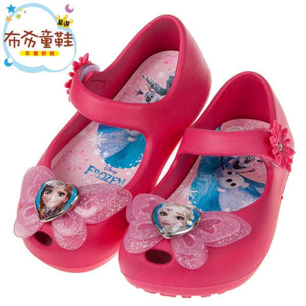 《布布童鞋》Disney冰雪奇緣蝴蝶飛舞桃粉色輕便公主涼鞋(15~20公分) [ B8F712H ]