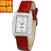 鑽錶-造型經典休閒女腕錶3色5j112[巴黎精品]