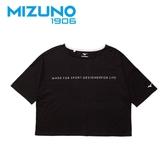 MIZUNO 女裝 短袖 1906 T恤 側邊LOGO 休閒 時尚 黑【運動世界】D2TA920309