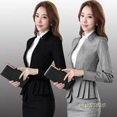 職業西裝外套女士黑色小西服新款時尚韓版修身顯瘦大碼秋季上衣潮「時尚彩虹屋」