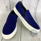 BRAND楓月 CELINE 毛毛 藍色 馬毛 休閒鞋 厚底鞋 白底 平底鞋 百搭款 輕便鞋
