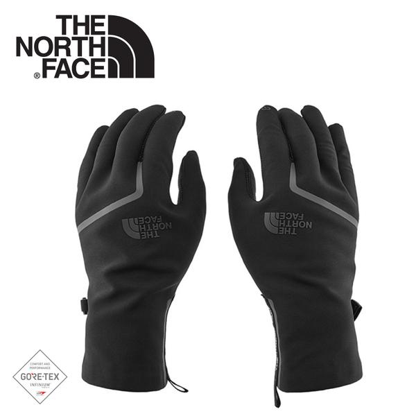 【The North Face 女 防風防潑保暖手套《黑》】3KPA/觸控手套/保暖手套/防風手套