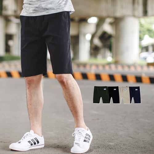 短褲 舒適大彈力抽繩素面休閒短褲【NB0612J】
