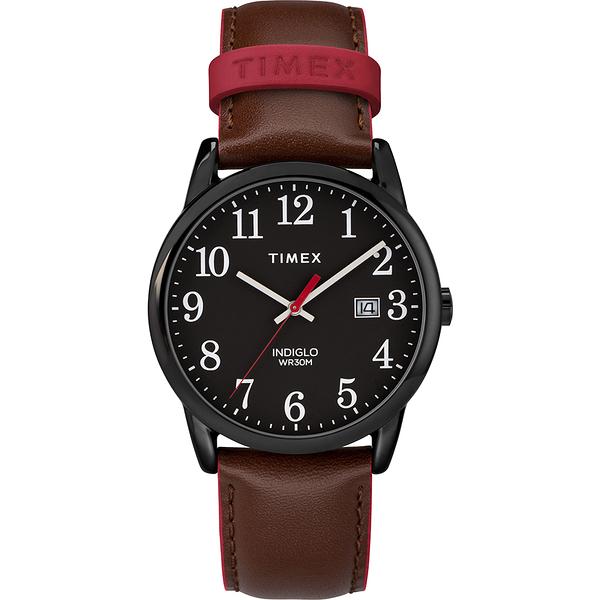 【TIMEX】Easy Reader系列 玩味個性跳色手錶(黑/ 咖 TXTW2R62300)