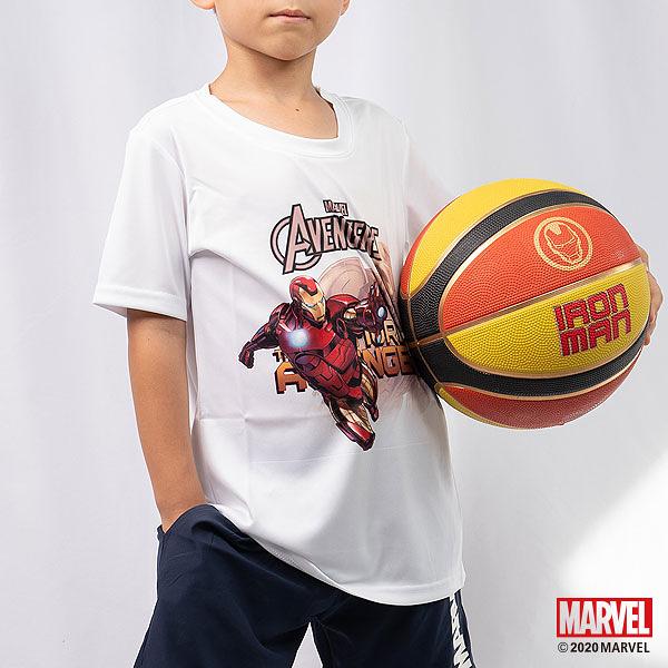 買衣送球!! MARVEL漫威運動服飾 小童運動短袖t恤 吸濕排汗材質 運動上衣 鋼鐵人主題設計