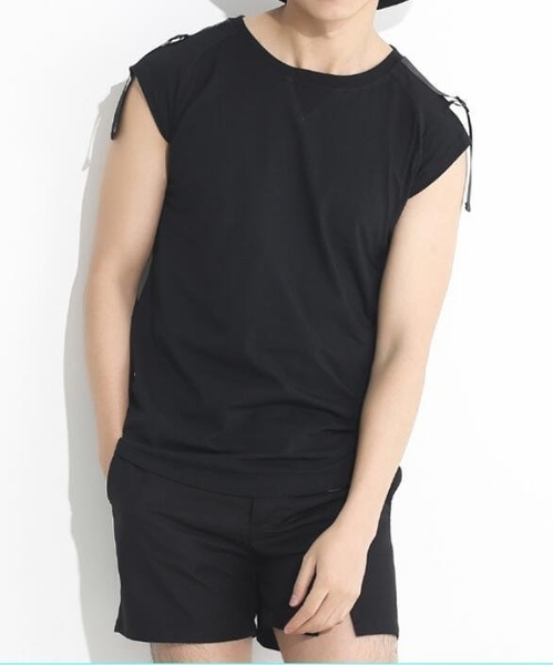FINDSENSE MD 韓國 男 街頭 時尚 暗黑 個性織帶鐵環裝飾 夜店 髮