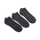 E.e 加大毛巾船襪 3入組 灰 B3012-1 男