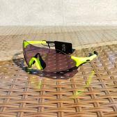 騎行眼鏡全天候偏光變色男女跑步透明防風運動太陽鏡自行車輕