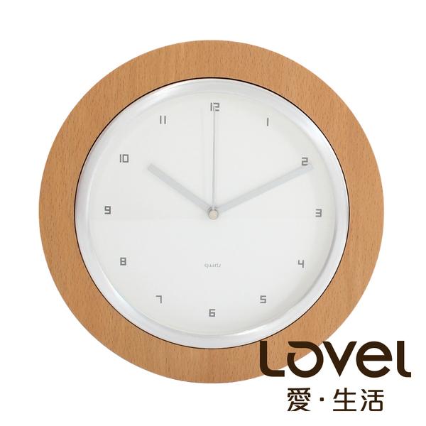 Lovel 25cm日系原木時鐘(W260-NT)