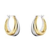 Georg Jensen 喬治傑生 18k黃金 純銀 CURVE 耳環(10018101)