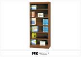 【MK億騰傢俱】BS254-01樟木色2.7尺開放書櫥