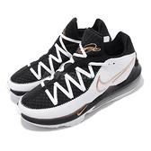 Nike 籃球鞋 Lebron XVII Low EP 17 白 黑 金 男鞋 詹皇 低筒 氣墊 運動鞋【ACS】 CD5006-101