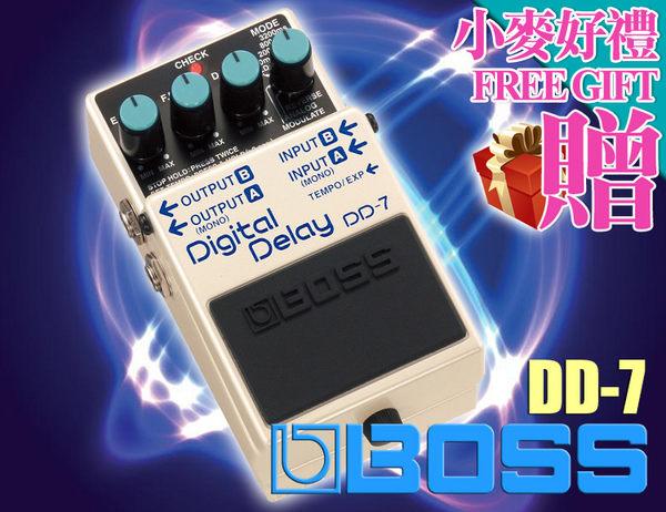 【小麥老師 樂器館】★BOSS 全系列現貨★ DD-7 數位延遲效果器  經典延遲  電吉他單顆效果器