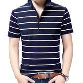 【免運】短袖polo衫 棉質男式T恤寬鬆中大尺碼中青年短袖POLO衫翻領半袖男裝