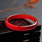 紅瑪瑙手鐲天然巴西紅瑪瑙手鐲細窄條玉鐲