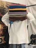 長袖T恤春秋季長袖t恤打底衫男生衣服潮牌潮流寬鬆內搭衛衣情侶百搭純色 非凡小鋪