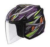 [東門城] SOL SL-27S 幻境 平黑紫 3/4罩安全帽