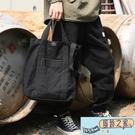帆布包 帆布包休閒豎款側背背包斜背包新款...