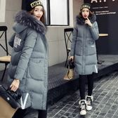 羽絨外套-時尚氣質毛領保暖中長款女夾克73it194[時尚巴黎]