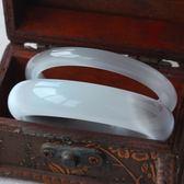 開光白玉貓眼石手鐲天然水晶手環女款飾品