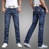 休閒直筒寬鬆大碼牛仔褲男士青年商務修身潮流褲子男褲長褲子 koko時裝店