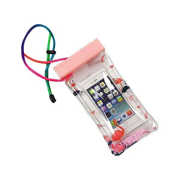 透明流沙充氣手機游泳防水袋(1入) 顏色隨機出貨【小三美日】