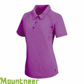 【Mountneer 山林 女 透氣排汗上衣 亮紫】21P02/排汗衣/休閒服/團體服