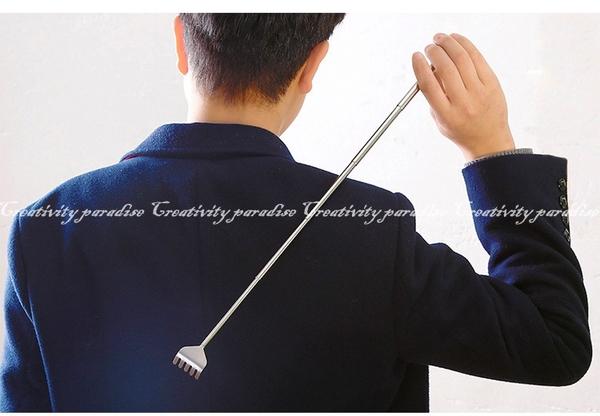 【不銹鋼抓背器】五段式全不鏽鋼抓癢器 伸縮式抓癢耙 不求人止癢器 筆式撓癢扒