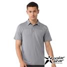 PolarStar 男 Coolmax短袖POLO衫『灰』P21161 排汗衣 排汗衫 吸濕快乾.吸濕.排汗.透氣.快乾.輕量