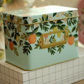 收納盒關于安娜。加厚鐵皮盒子 梳妝臺化妝品 桌面收納整理