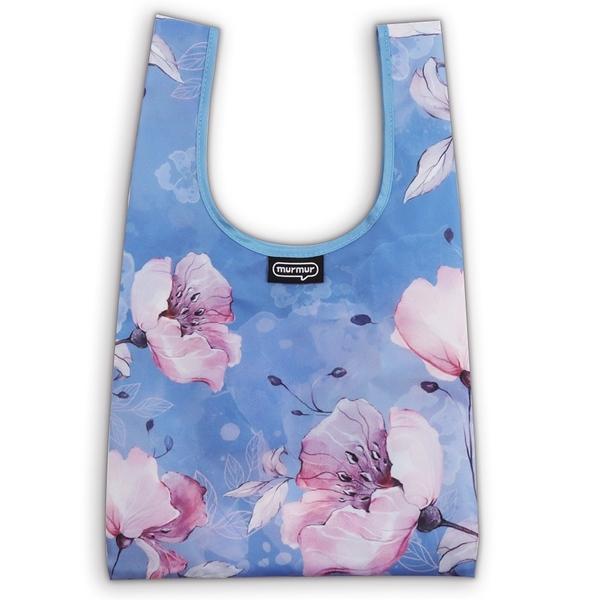 ﹝三代﹞murmur 粉藍花 便當袋 購物袋 手提袋 隨身購物袋 小購物袋 飲料袋