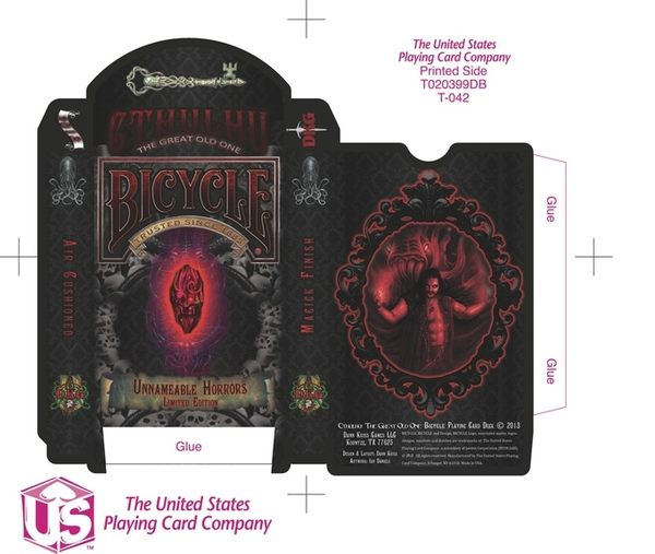 【USPCC 撲克】Cthulhu Bicycle Deck - Unnameable Horrors 版