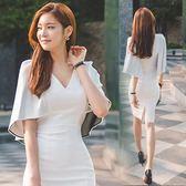 禮服 新款裙子夜店性感女裝女人味白氣質女神范衣服連衣裙超仙