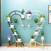 北歐鐵心形花架 客廳落地懸掛家用置物架 簡約綠蘿裝飾花盆架 CJ5355『易購3c館』
