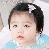 Cutie Bella馬卡龍色系大小雙層星星全包布手工髮夾-Sparkle Twin Star-Peach/Silver