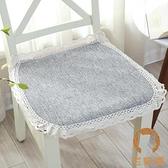 椅子坐墊布藝坐墊椅子墊子電腦座椅餐椅椅墊【宅貓醬】