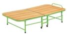 【森可家居】角管折床(綠色) 10JX362-1 便利 收合床 單人床 陪病床