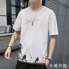 2020新款男士短袖T恤夏季韓版潮流休閒寬鬆時尚百搭圓領男上衣服CH644【小美日記】