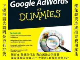 二手書博民逛書店Google罕見AdWords For Dummies, 3rd EditionY410016 Howie J