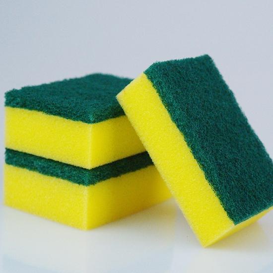 海綿刷 清潔刷 海綿 菜瓜布 廚房清潔 百潔布  雙面加厚 磨砂 方形海綿菜瓜布【Z185】慢思行